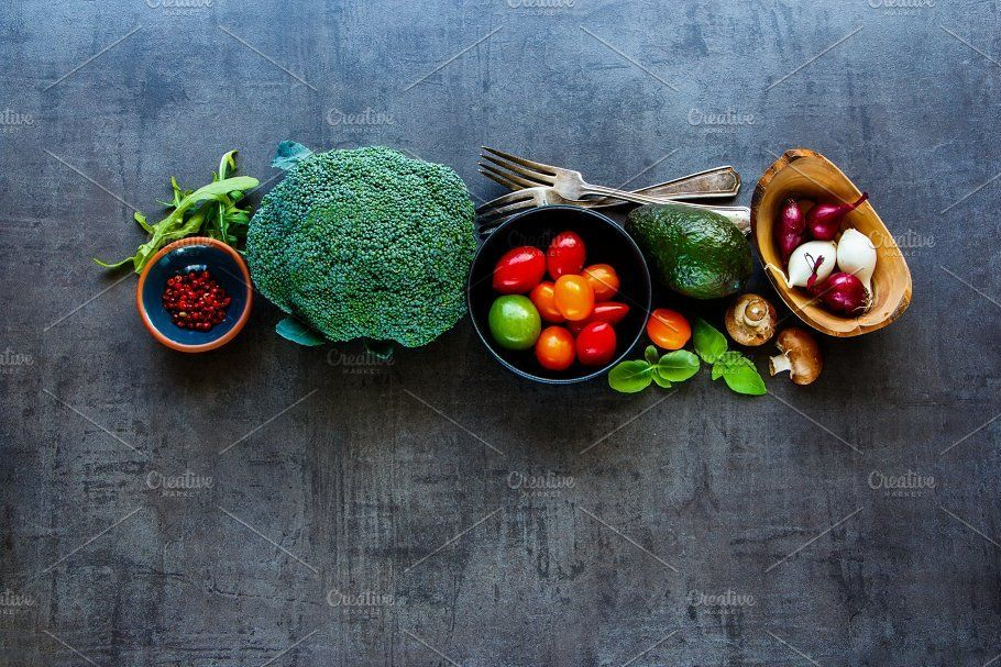 Healthy cooking background healthy cooking background