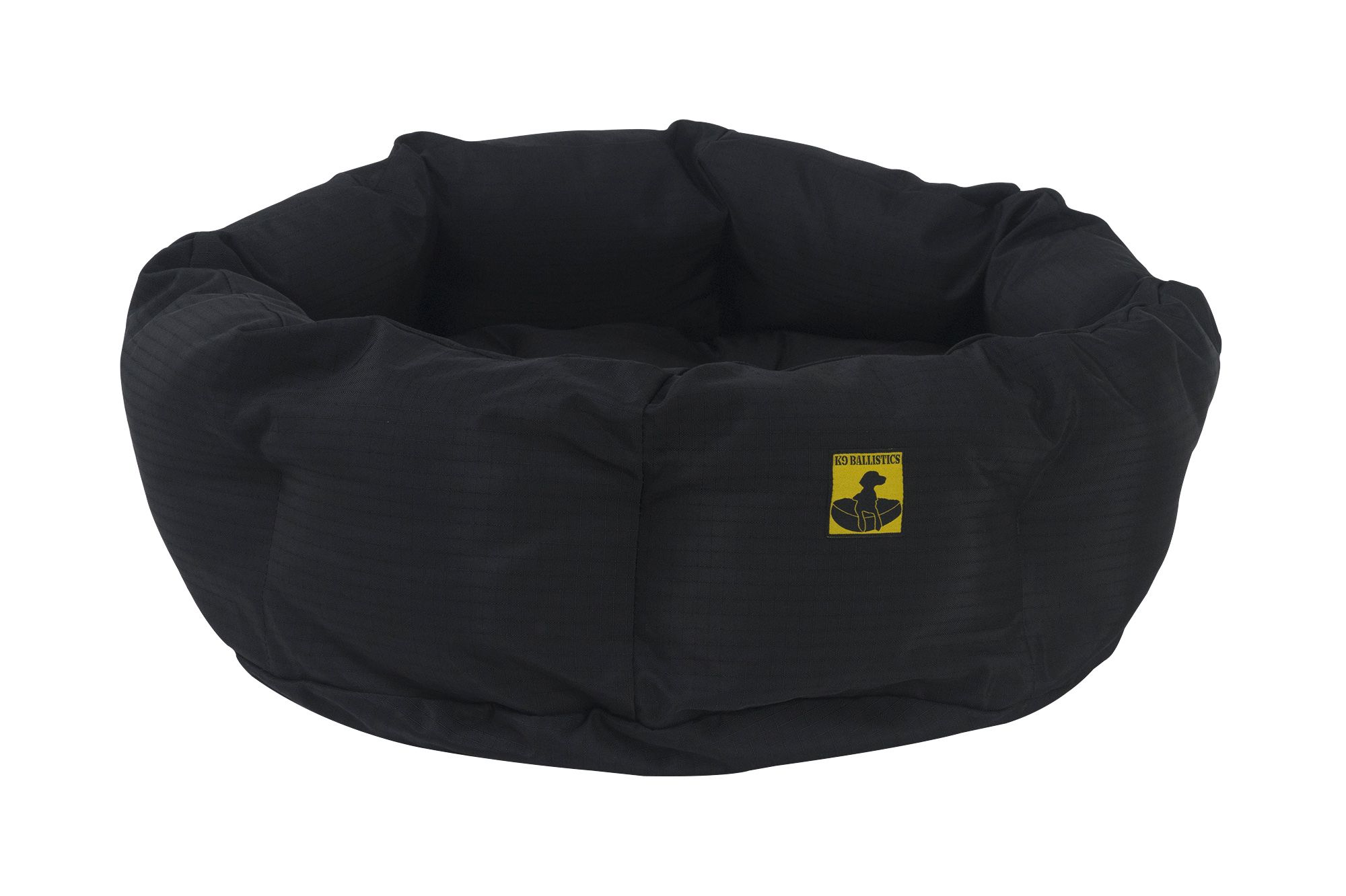 Tough Deep Den Dog Bed™ Dog bed, Black bedding, Round