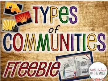 This FREEBIE is a small sample of the complete no-prep unit. This freebie contains foldable activities for Rural, Urban, and Suburban communities. These foldable activities are perfect for interactive notebooks or lapbooks!The complete unit can be found a