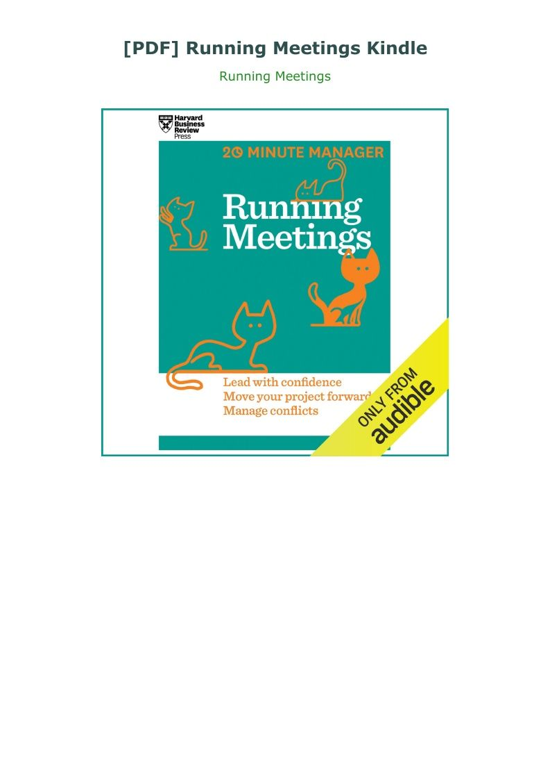 Pdf Running Meetings Kindle Harvard Business Review Crash Course Business Skills