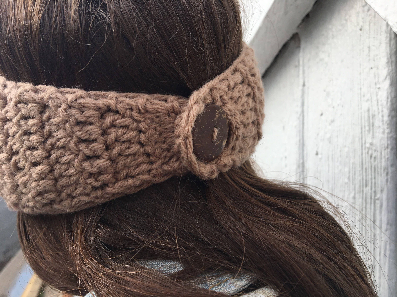 ANY COLOR Women/'s Ear Warmer Crochet Earwarmer Headband Head Wrap With Large Flower