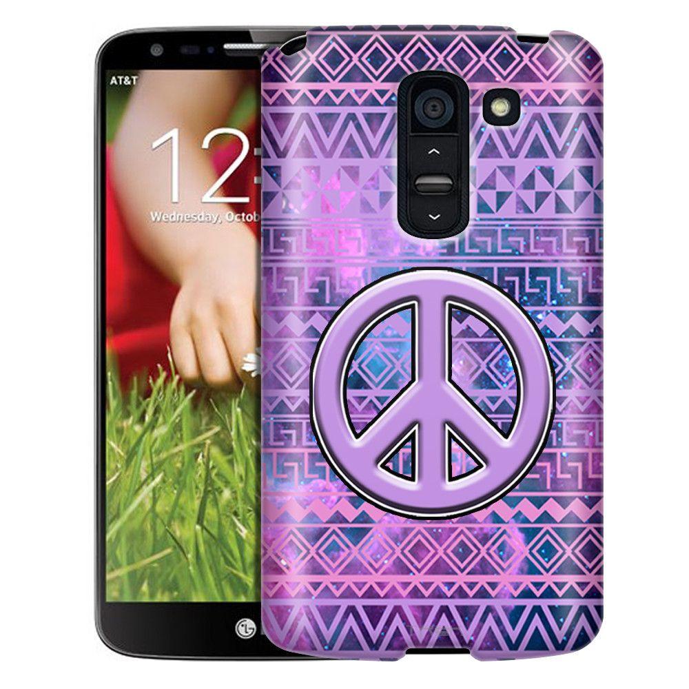 LG G2 Slim Case Peace on Aztec Andes Purple Tribal Nebula Slim Case