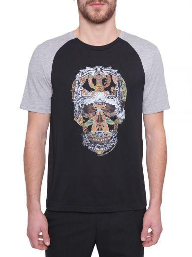 ALEXANDER MCQUEEN Skull Print T-Shirt. #alexandermcqueen #cloth #topwear