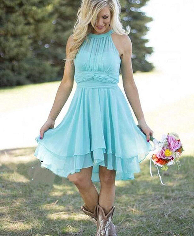 TTdamai Womens Knee Length Country Bridesmaid Dress