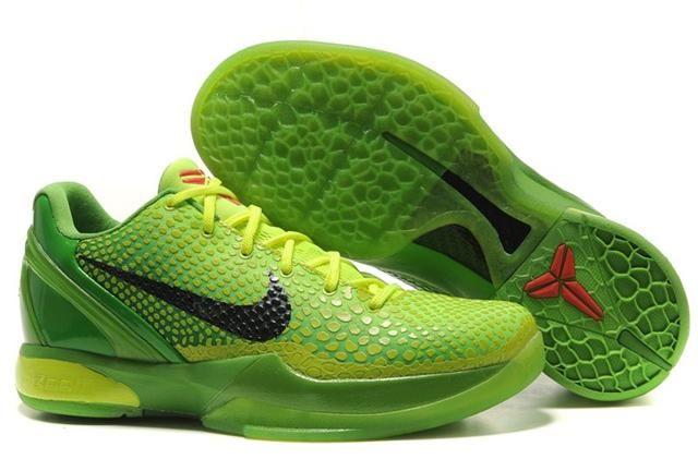 pretty nice a90db 2baa2 Nike Christmas shoes Kobe VI Christmas Grinch All Green Mamba 429659 701  for sale off,i like.