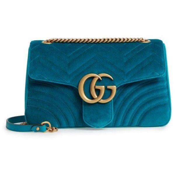 56fbda71949 Women s Gucci Medium Gg Marmont 2.0 Matelasse Velvet Shoulder Bag ...