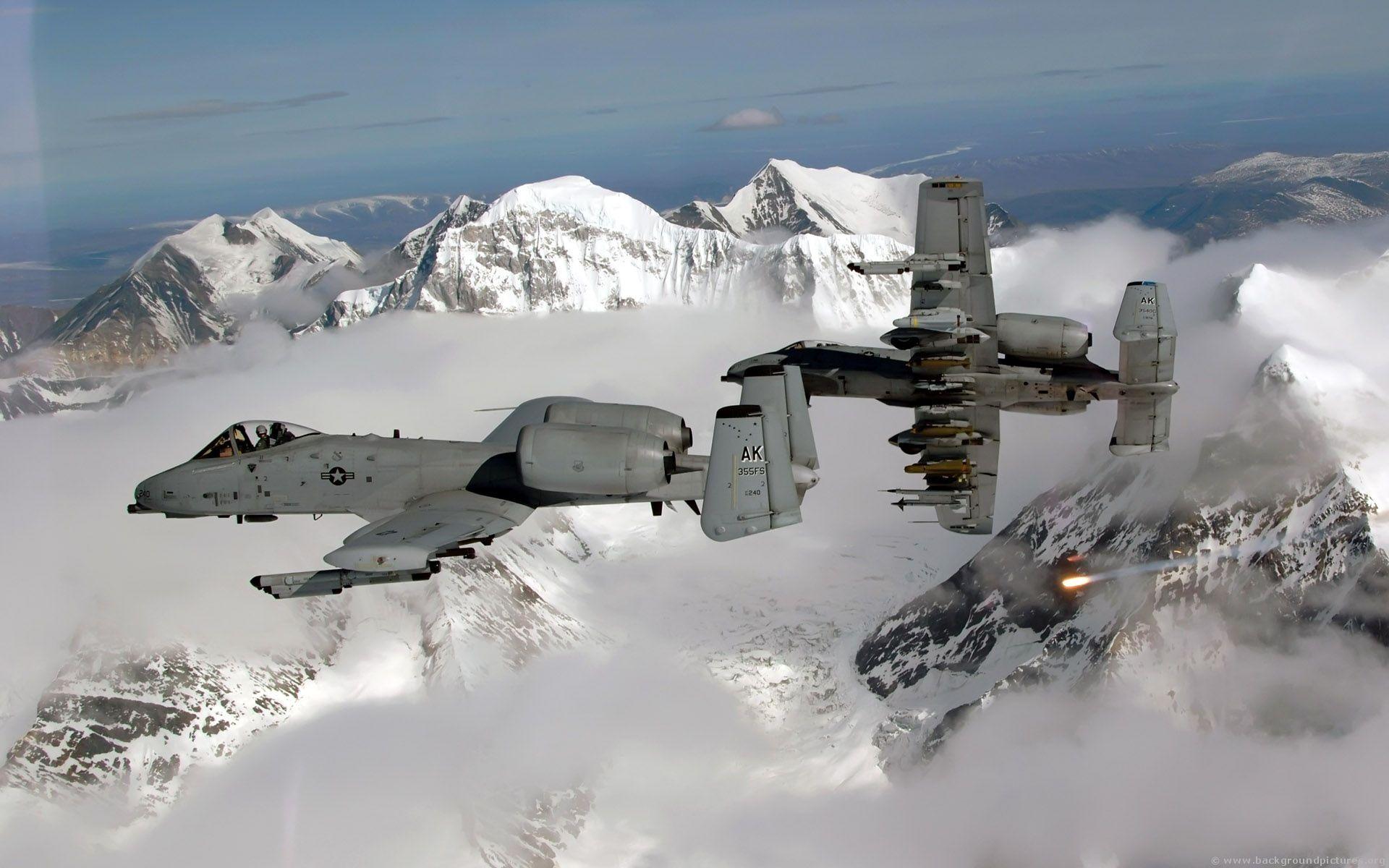 A10 Warthog flying over Alaska Aircraft, Fighter jets