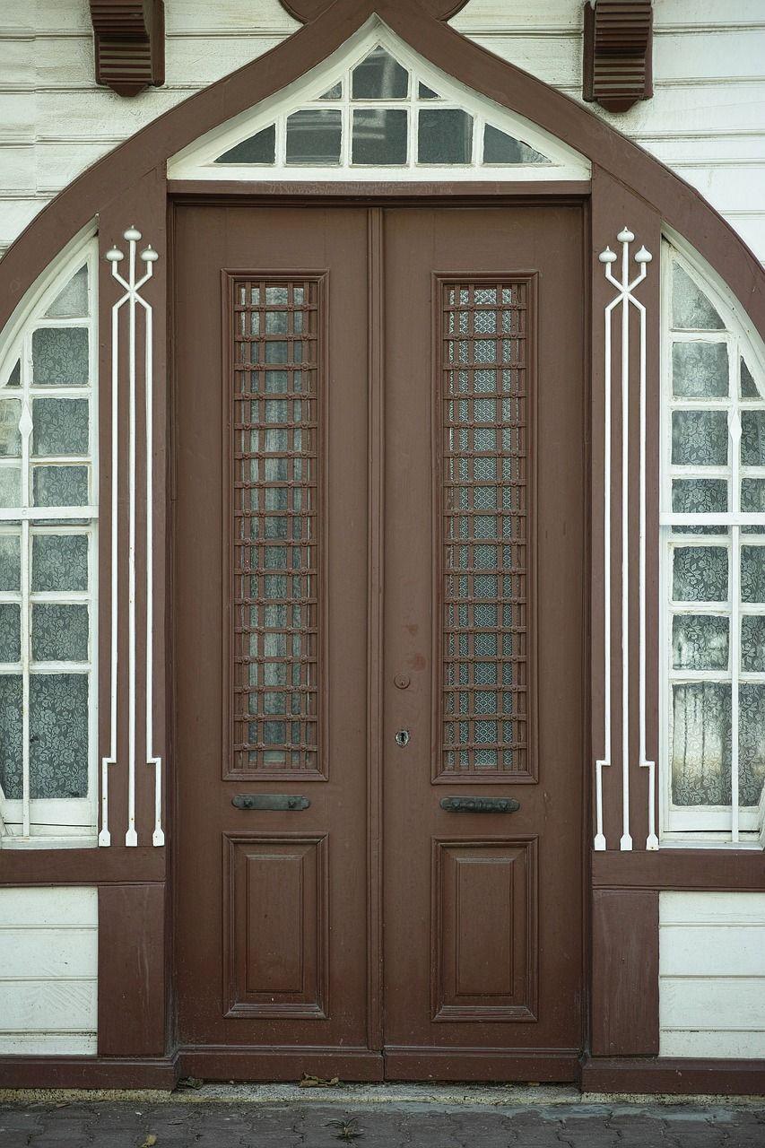 Home decor door old wood old building on homedecor door