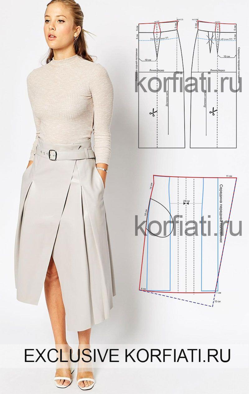 Юбка шорты для женщин выкройки