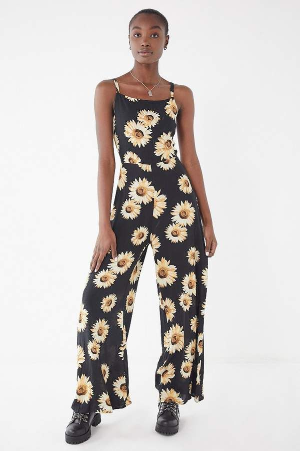 362b2ffbd0 Urban Outfitters Sunflower Tie-Back Jumpsuit