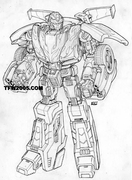 Transformers Classic Hot Rod Sketch Transformers Transformers Coloring Pages Transformers Artwork Transformers Design