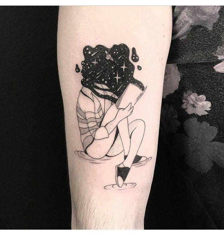 Tattoo Head Book Black Bookish Tattoos Neck Tattoo Tattoos