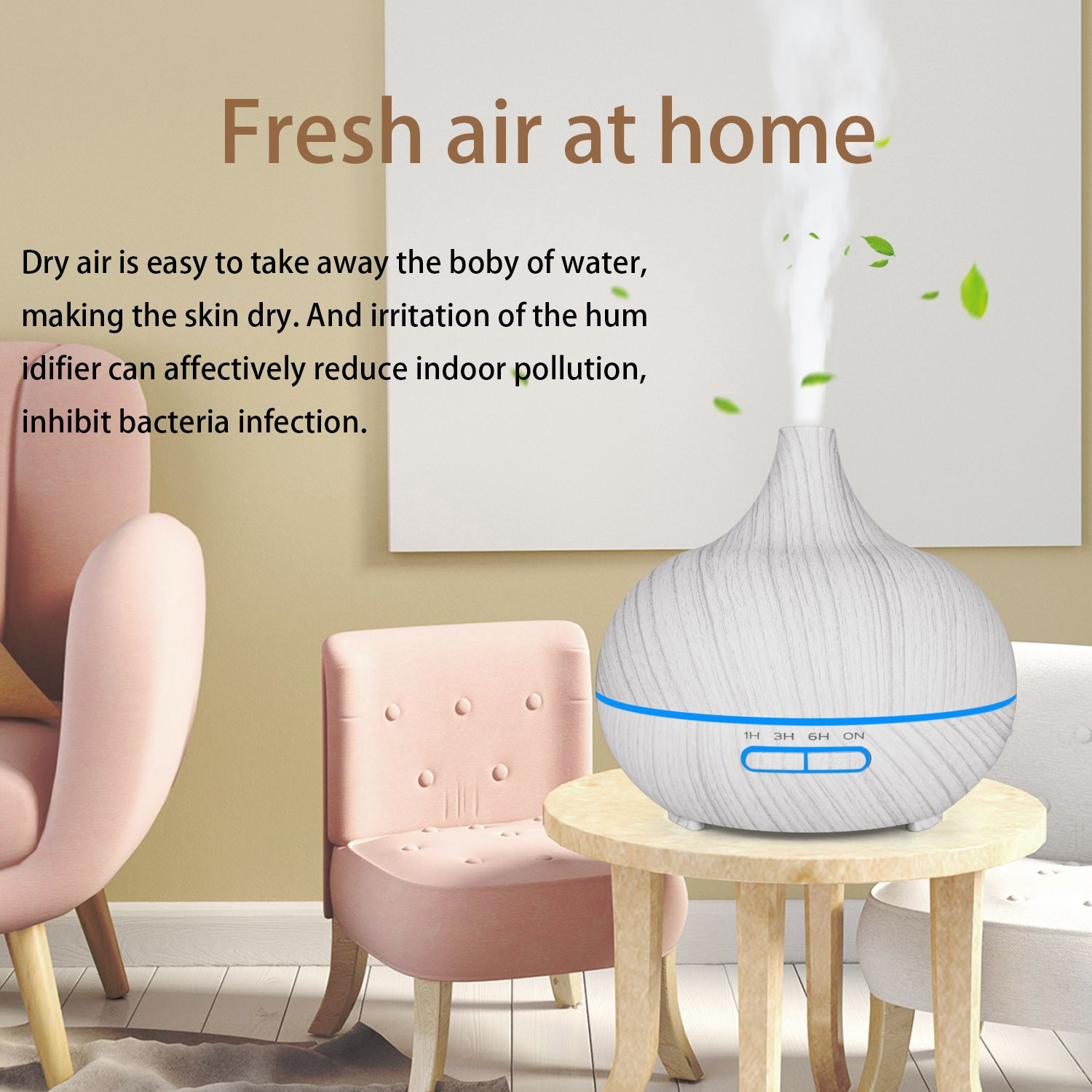 D002 Commercial ultrasonic Bamboo wood home fragrance car