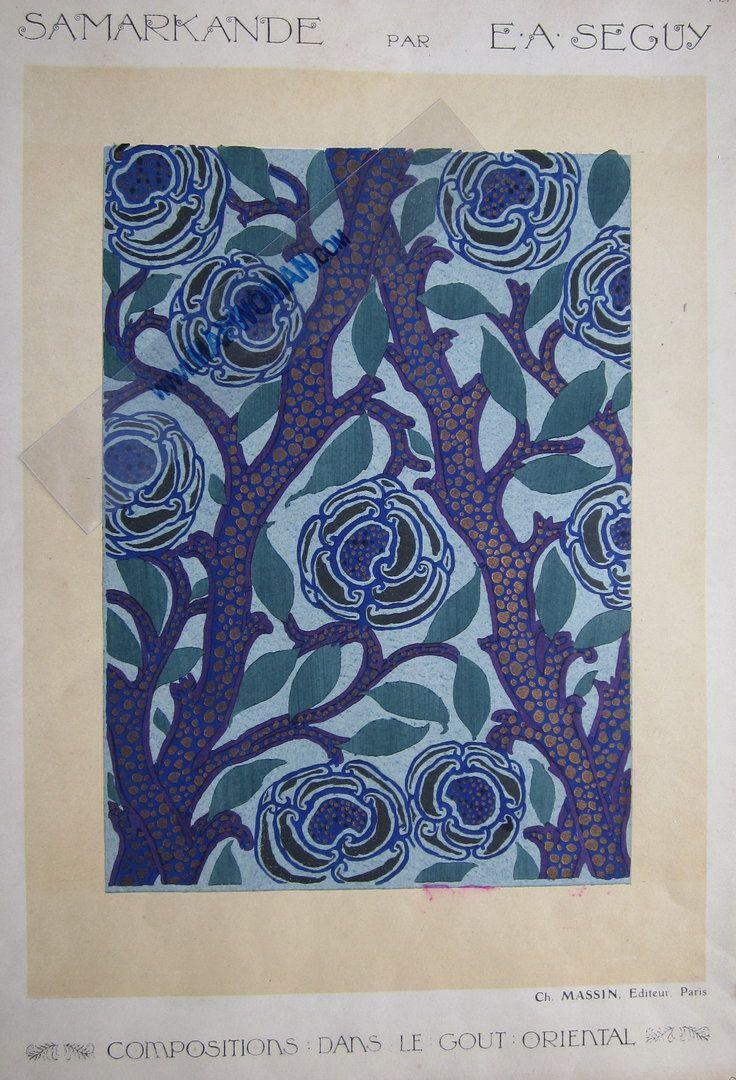 Seguy Pochoirs - Samarkande - Compositions dans le gout Oriental  Ch.Massin Paris c1914