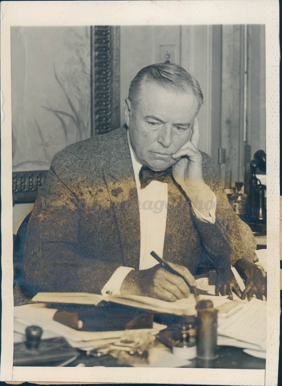 1922 Photo Augustus Thomas Prominent Playwright Executive Chairman Manager NY