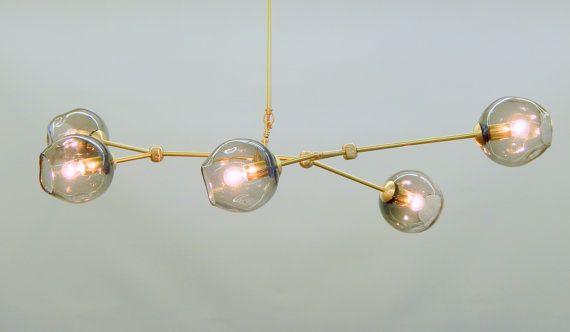 5 Globe Hand N Gl Staccato Branch Chandelier Hanging Light Sculpture