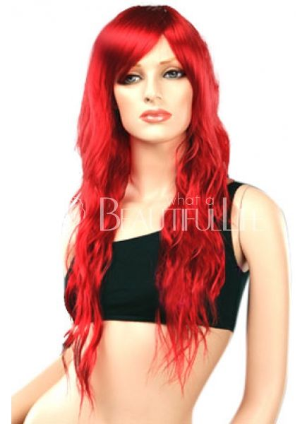 Women's 80cm Long Curly Red Fashion Wig $50.49