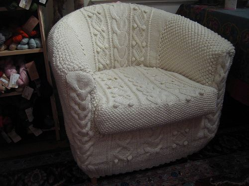 Aran Armchair Cover Pattern By Erika Knight Armchair