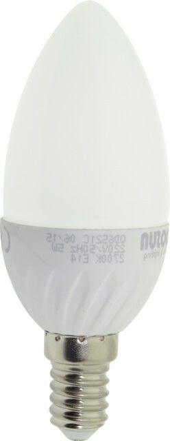 BECUL LED E14 5W LUMANARE C35 MAT este echivalentul unui bec incandescent de 45W la un cost al energiei mult mai mic. Corpul alb si dispersorul alb mat dau un aspect elegant putand fi folosit cu usurinta pentru candelabre, aplice sau plafoniere.