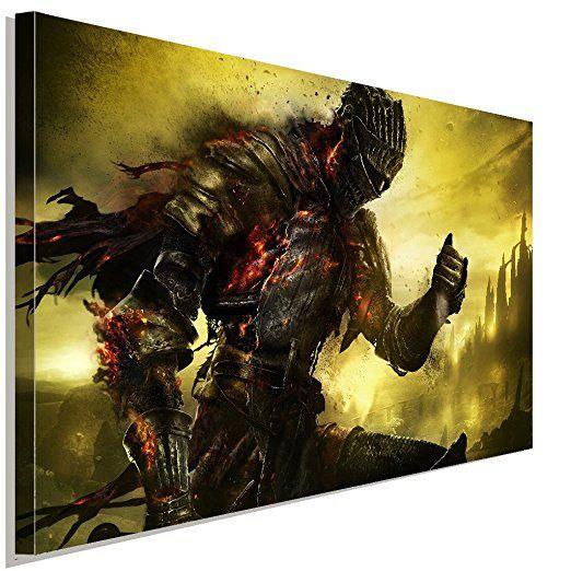 Dark Souls Warrior Battle Leinwandbild LaraArt Studio Wanddeko