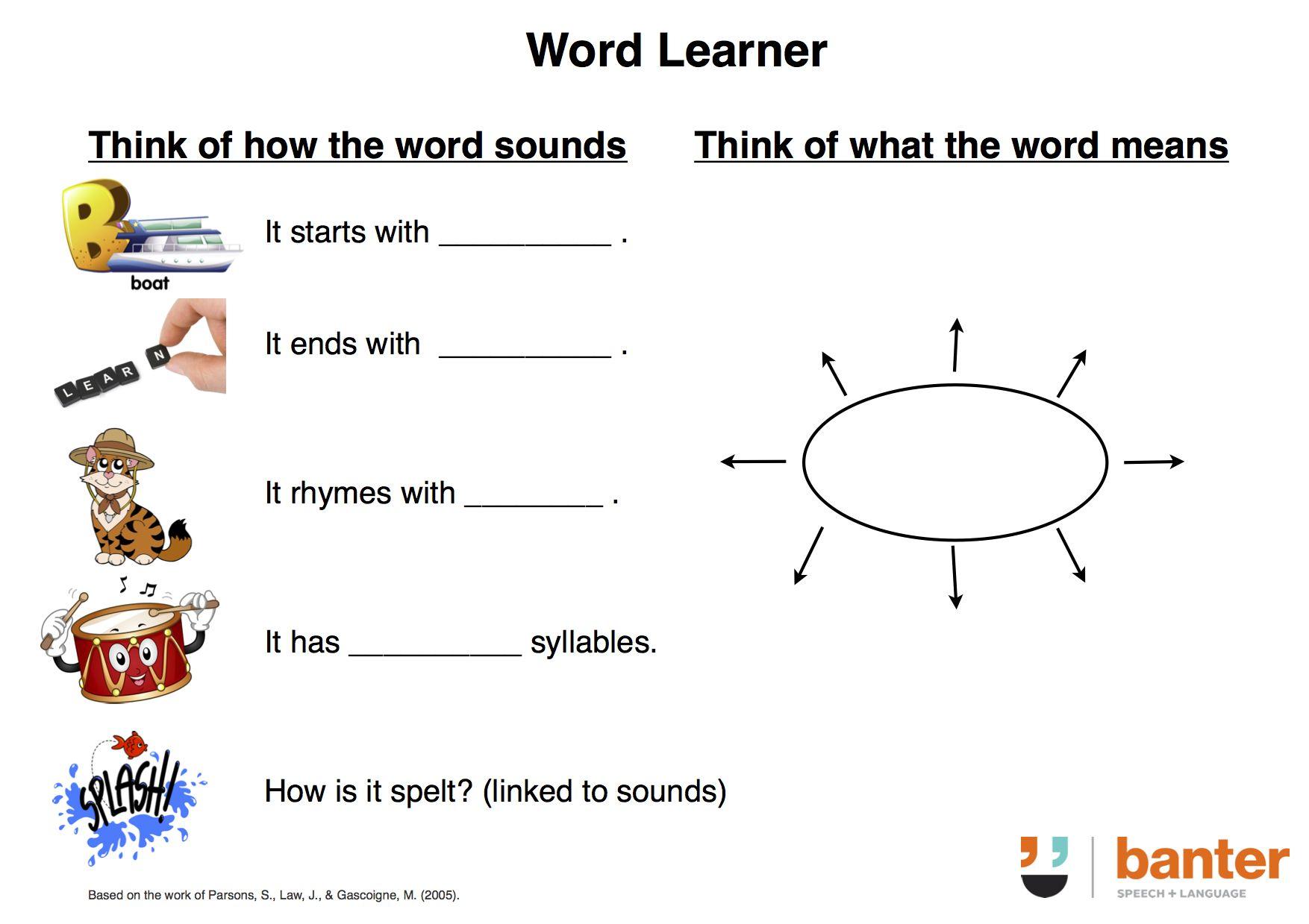 Slp An Evidence Based Free Worksheet To Help Children