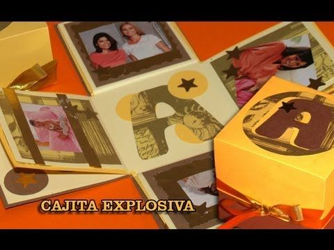 Tarjeta Explosiva con Fotos - DIY - Explosive Card with Pics - YouTube