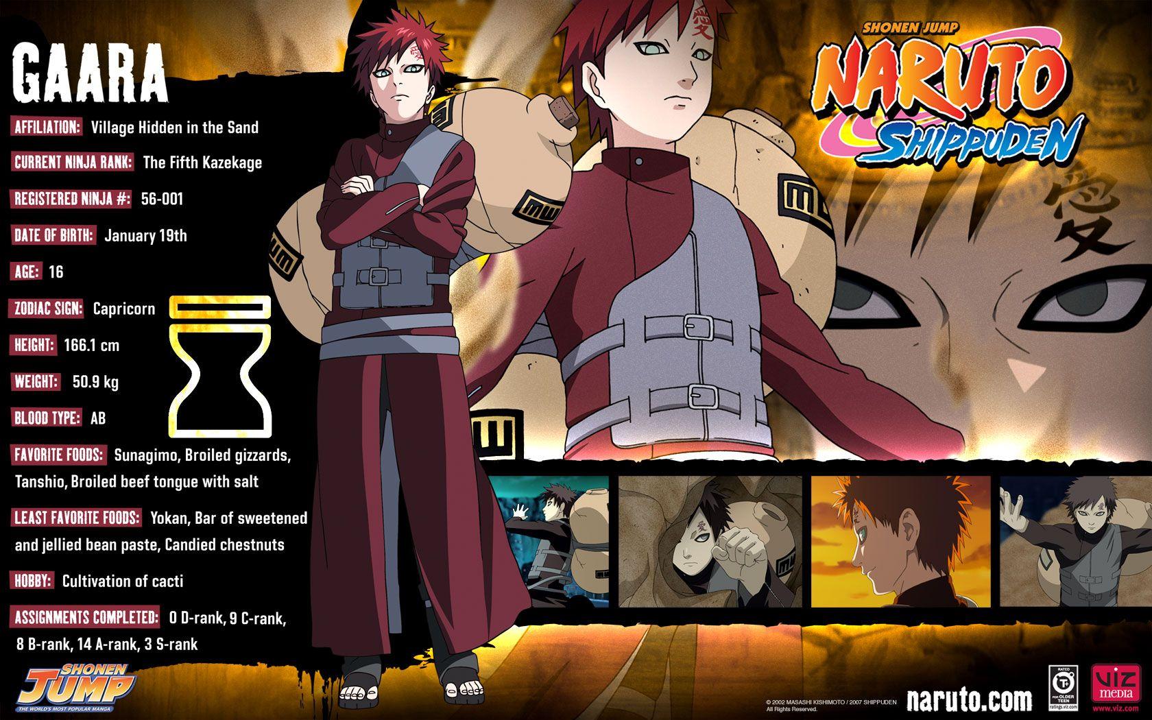 Gaara Naruto Shippuden Characters | Naruto | Pinterest ...