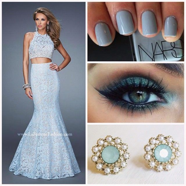 La Femme 21087 ~ two piece prom dress ~ mermaid dress ~ lace dress ...