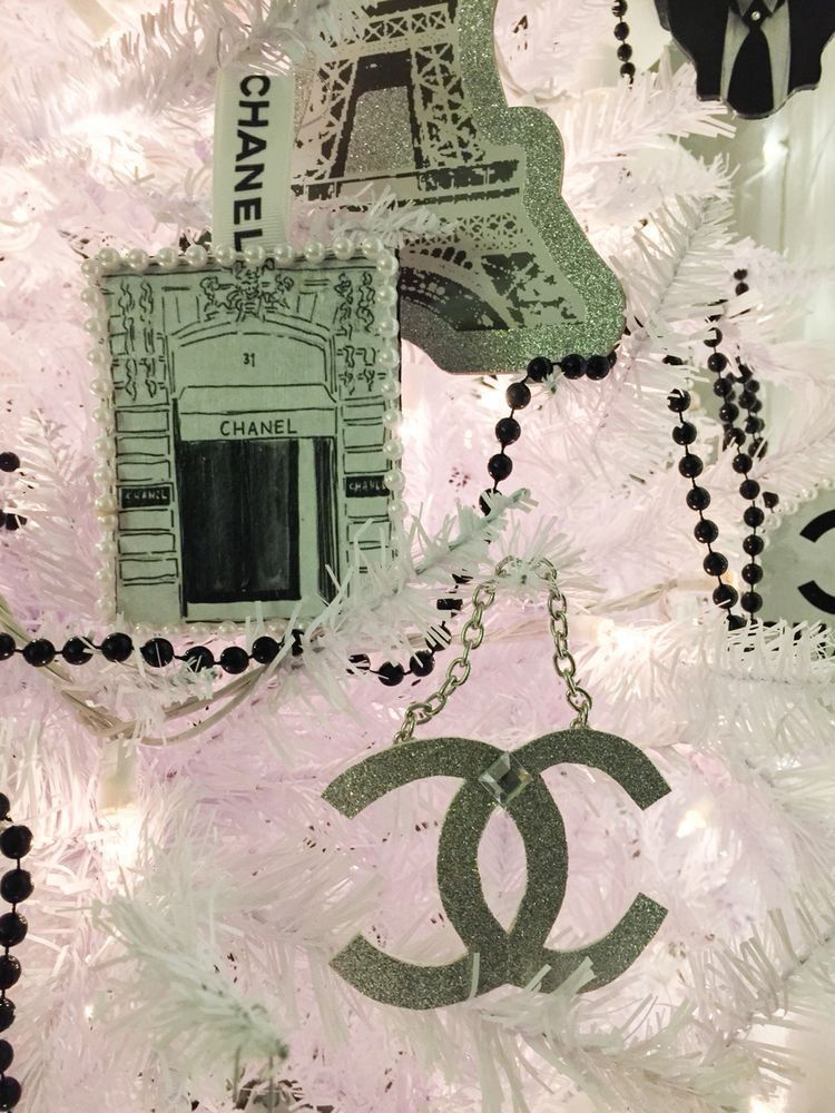 Chanel Christmas tree. Designer Christmas. Luxury Christmas at my house in 2014