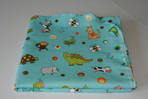 Gender Neutral Various Animals Swaddle Blanket by SewKnotExpected, $12.00