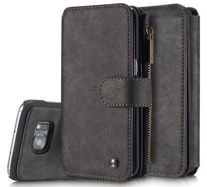 Galaxy S7 edge Dermis Wallet case, AKHVRS Cowhide Leather Wallet Cover Case…
