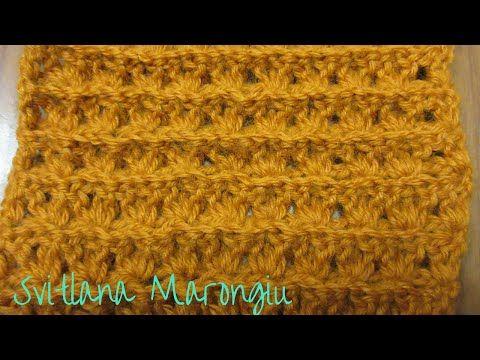 Punto Crochet All Uncinetto.Tutorial Punto Miele All Uncinetto Spiegazione Punto Uncinetto