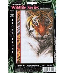 Janlynn Tiger Wildlife Cntd X-Stitch Kit : counted cross stitch kits : cross stitch : yarn & cross stitch :  Shop | Joann.com