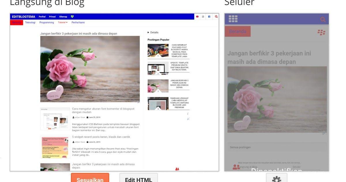 Tahukah Anda Hampir Semua Widget Template Baru Dapat Di Pindahkan Ke Template Lama Blogspot Kecuali Widget Blog1 Ini Bisa Menjadi Solusi D Desainer Blog Tahu