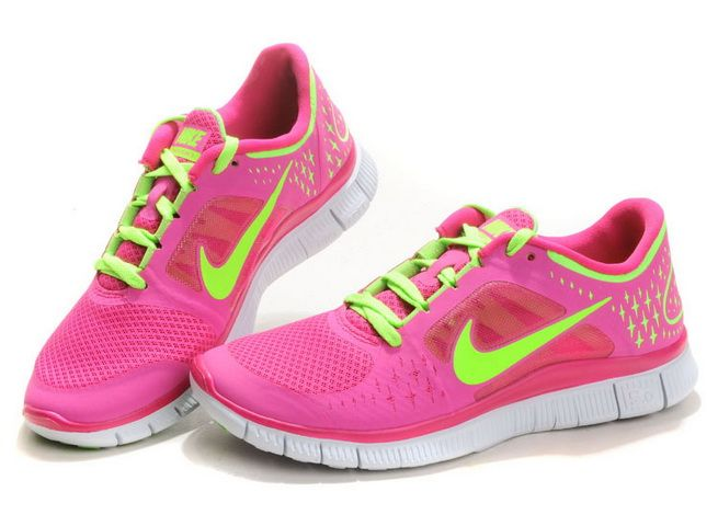 meilleur pas cher 57839 89e11 Femme Nike Free Run 3 Rose Fluo Vert XH122 | Nike Free Run ...