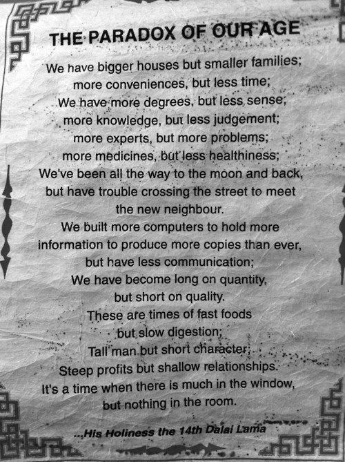 The Paradox of Our Age by the Dalai Lama