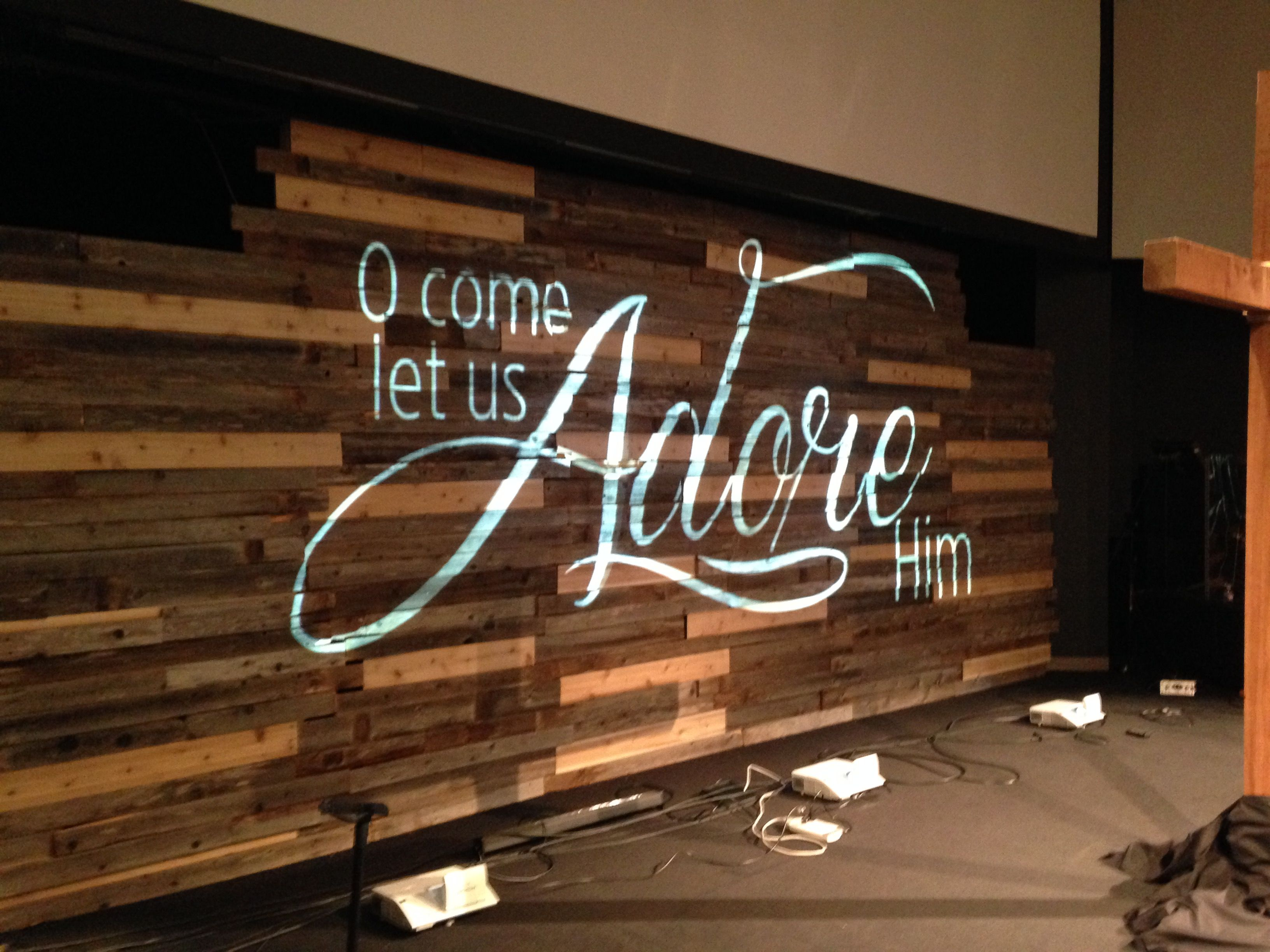 Pallet Projection | Church Stage Design Ideas