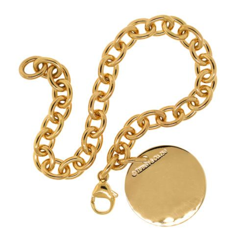 c92810e07 Tiffany-amp-Co-Jewelry-18K-Yellow-Gold-Round-Circle-Tag-Charm -Chain-Link-Bracelet.