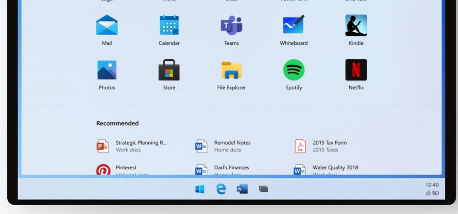 Windows 10X leak reveals a mix of desktop and mobile