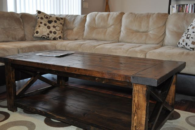 farm house coffee table | Farmhouse Style Rustic X Coffee Table | Do It Yourself Home Projects ...