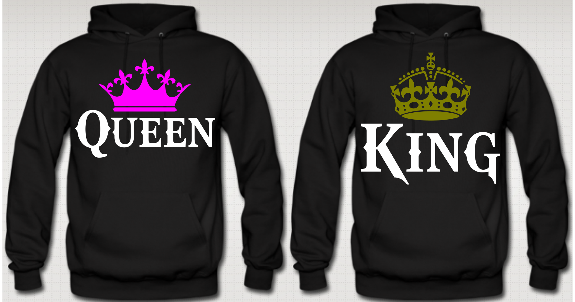 king and queen couple hoodies couples queens and clothes. Black Bedroom Furniture Sets. Home Design Ideas
