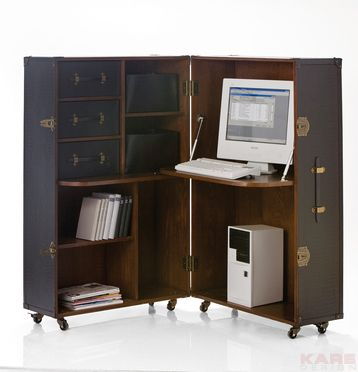 Wardrobe Trunk Office Colonial  ....and i also want this for the study room