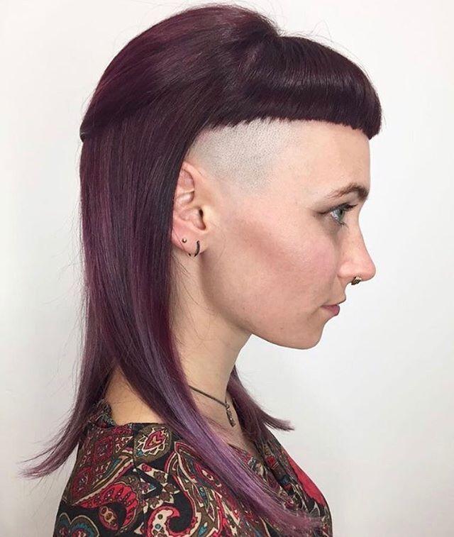 Micro Bangs Shaved Sides Hair Styles Hot Hair Styles Alternative Hair