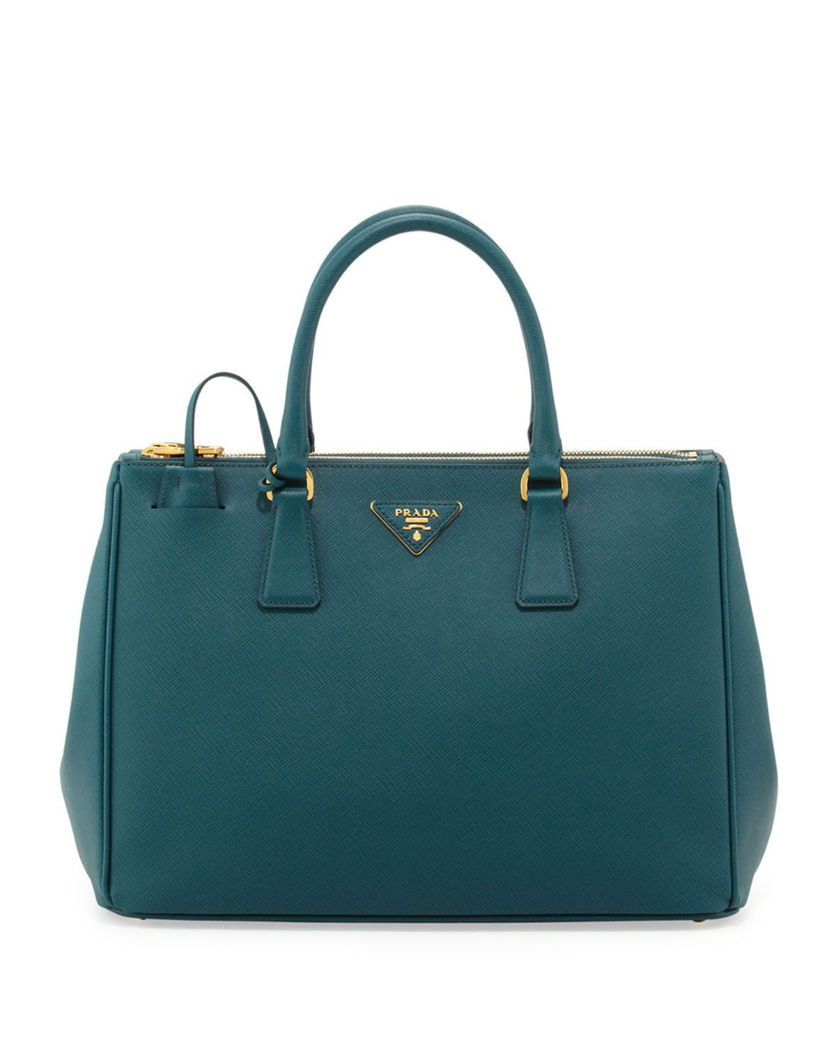 976e71a62794 Prada Saffiano Double-Zip Executive Tote Bag Teal #Handbags | Gucci ...