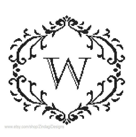 Customized/Personalized Pattern black Monogram Initial