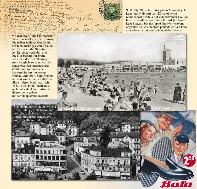 Ukázka z knihy Pohlednice z minulosti Mariánských Lázní.