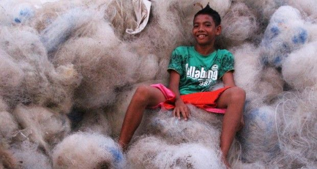 Interface Flor Buying And Recycling Used Fishing Nets Into