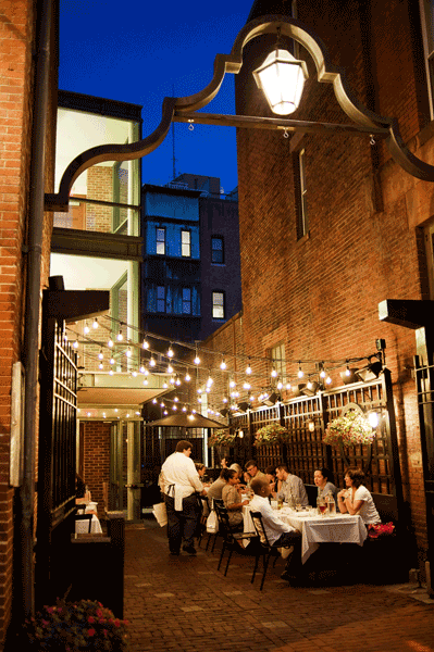 Outdoor Patio Space At Russell House Tavern Located In The Heart Of Harvard  Square, Cambridge