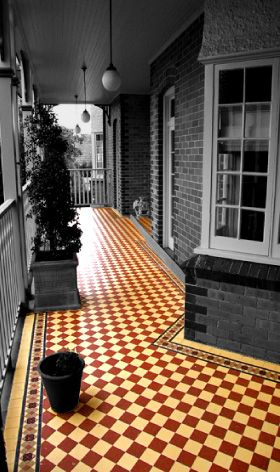 lay victorian tessellated tiles