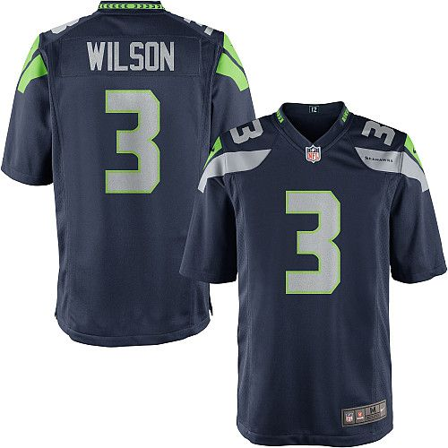 Youth Nike Seattle Seahawks Russell Wilson Game Team Color Jersey ...